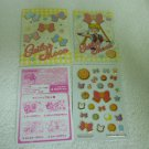 SAILOR MOON JAPAN KIRA BOW CATS SEAL MINI STICKER ENVELOPE PAPER CARD