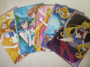 SAILOR MOON JAPAN CRYSTAL RARE POSTCARD 5 CARD COLLECTION NEW BOX (4 + 1 FOIL)