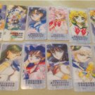 SAILOR MOON CLEAR SMALL CARD MANGA LOT BOOKMARK SERIOUS