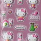 SANRIO HELLO KITTY NEW EMBOSSED PUFFY STICKER DIE CUT 13 PCS.