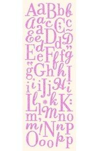 Glittered Pink Alphabet
