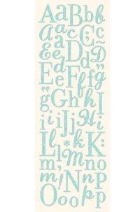 Glittered Blue Alphabet
