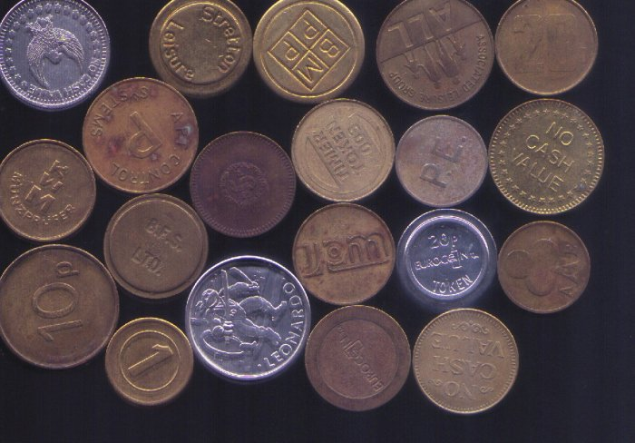 20 All Different Tokens from Europe & England