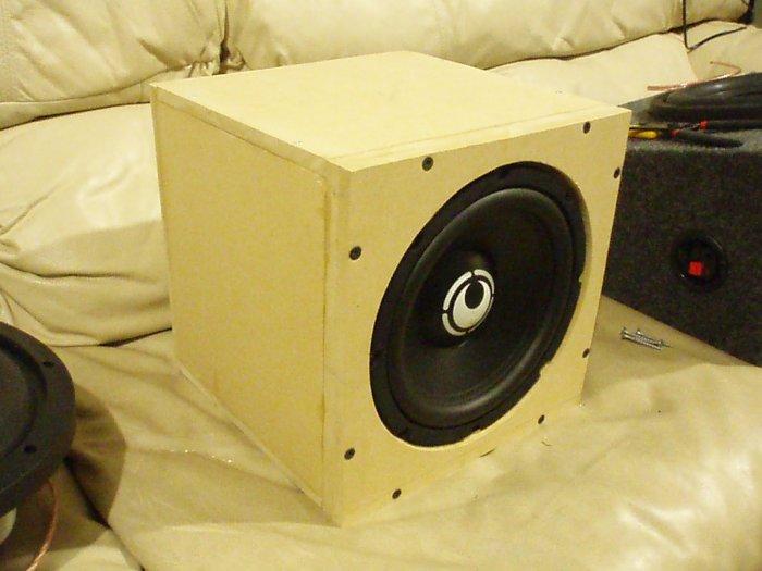 "RE Audio 8"" Subwoofer with flush-mount double-baffle box"