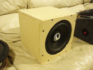 "RE Audio 8"" Subwoofer with flush-mount double-baffle box"