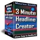3 Minute Headline Creator - Resell eBook!