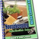 Housekeeping Niche eBooklet - Resell eBook!