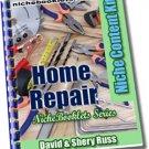 Home Repair Niche eBooklet - Resell eBook!