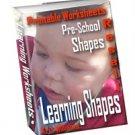 Learning Shapes Printable Worksheets Preschool Fun by Kris Williams - Resell eBook!