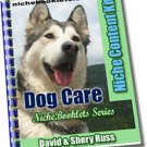 Dog Care Niche eBooklet - Resell eBook!