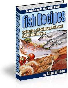 Fish Recipes - Resell eBook!