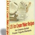 131 Ice Cream Recipes - Resell eBook!