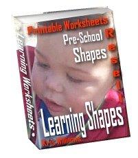 Learning Shapes Printable Worksheets Pre-school fun by Kris Williams - Resell eBook