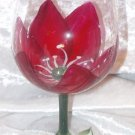 3-D Tulip Wine Glasses, set of 4