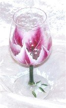 3-D Poinsettia Wine glasses, set of 4
