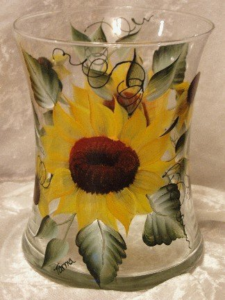 Sunflower Hourglass Ice Bucket/Vase