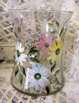 Daisy Hourglass Ice Bucket/Vase