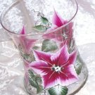 Poinsettia Hourglass Ice Bucket/Vase