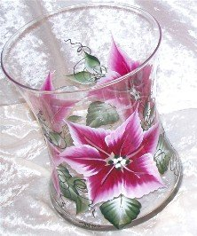 Poinsettia Hourglass Ice Bucket/Vase