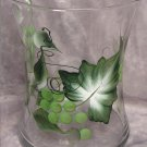 Hand Painted Green Grape Hourglass Ice Bucket/Vase