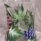 Hand Painted Multi Grape Hourglass Ice Bucket/Vase
