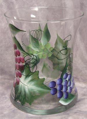 Hand Painted Multi Grape Hourglass Ice Bucket/Vase