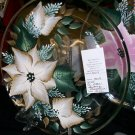 "13"" Poinsettia Cookie Platter"