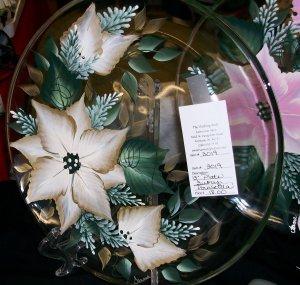 "13"" Poinsettia Cookie Platter"