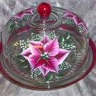 Poinsettia Punch bowl/Cake cover