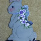 Wood Bunny Welcome Sign