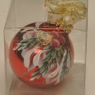 Hand painted Holly & Berries Christmas Ornament