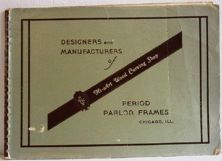 Hi-Art Wood Carving Shop Period Parlor Frames Original Seating Furniture Catalog circa 1940