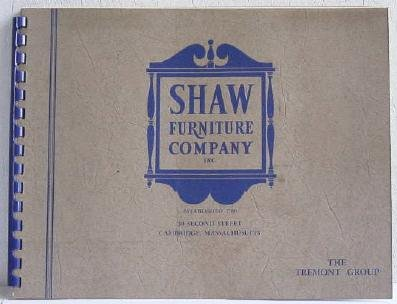 Shaw Furniture Company Tremont Group Catalog circa 1940's Showroom Upholstered Seating Pine Mahogany