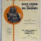RN High Speed Diesel Type Oil Engines List No. 38 Types D1 D2 and DR undated