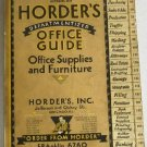 Horders Office Guide Issue No.39 October 1930 Office Supplies and Furniture Catalog