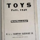 Toys Fall 1946  WAL Thompson Hardware Co Catalog Wooden Toy Toyad Plio Teach-a-Tot