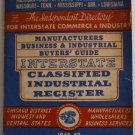 Manufacturers, Business & Industrial Buyer's Guide Interstate Classified Industrial Register 1948-49