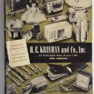 HE Krisman and Co, Inc 1954 Catalog General Merchandise Housewares Toys Sporting Goods Original
