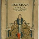 Rebekah Regalia Paraphernalia Costumes Etc Original Catalog No.15 circa 1920 Fraternal Robes Jewelry