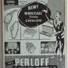Louis Perloff Wholesale Jewelers circa 1950 Catalog Jewelry Clocks Wristwatches Karoff Originals