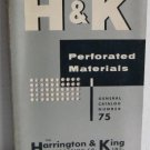 H and K Perforated Materials General Catalog Number 75 c.1958 Control Panel Grilles Screens Lighting