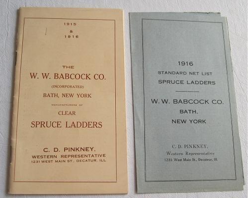 WW Babcock Co Clear Spruce Ladders Catalog 1915 - 1916 Barrel Dash Churns Step Extension Trestle