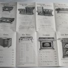 Supplement Sheet Stoves Ranges Heaters John M Wolf Co Cort Success Perfection Home Bengal ca 1915?