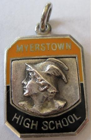 Old Myerstown High School Sterling Silver Athletic Medal Award Athletic Newsgram PA Pennsylvania ?