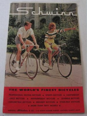 1964 Schwinn the World�s Finest Bicycles Catalog Bikes Hornet Typhoon Bantam Sting-Ray Paramount