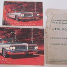 1962 Pontiac Owners Guide Manual plus Protection Plan Booklet Bonneville Safari Catalina Grand Prix