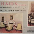 1938 Chairs Incorporated Furniture Catalogue Upholstered Seating Creative Decorator Styled