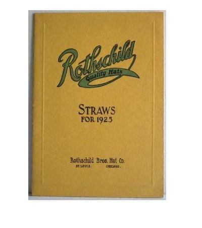 Rothschild Quality Hats Straws for 1925 Catalog Original Hat Catalog Summer Men's Children's