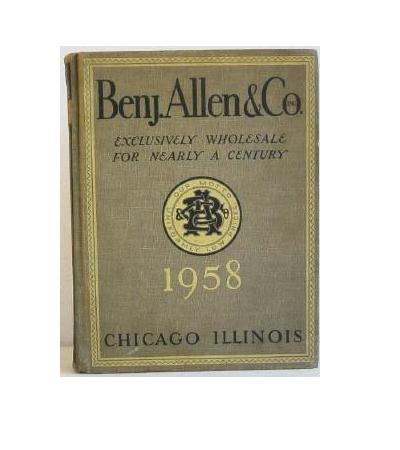 Benj. Allen & Co c.1958 Original Hardbound Catalog Housewares General Merchandise