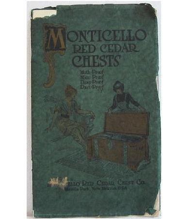 Monticello Red Cedar Chests Original Furniture Catalog Circa 1915 Copper Studded Rivets